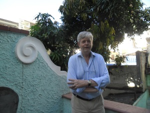 Richard on terrace, Rio