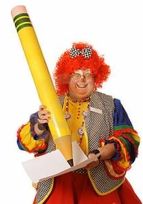 clown-writing