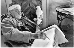 En bild av konsten att skriva. På nåt vis. Henri Matisse målar av en duva.