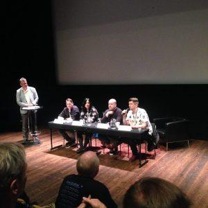 Skrämmande svenskar på scen: Marcus Olausson, Helena Dahlgren, Jonny Ber och Mats Strandberg