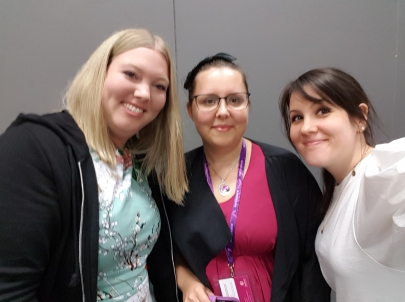 Jag, Sara & Veronica. Tre stolta romanceförfattare!