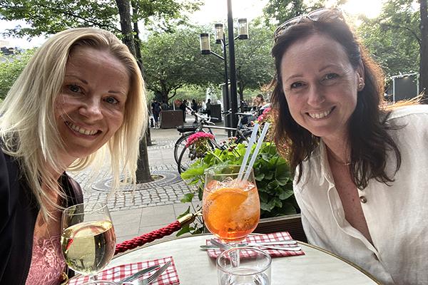 Caroline Möllesand och Åsa Johansson